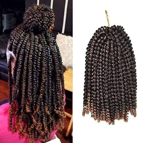 Leeons 3 Packs Nubian Twist Hair Ombre Color Crochet Braids