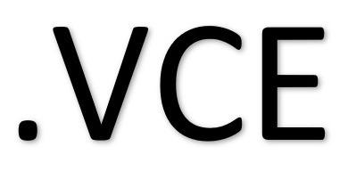 leer archivos extensión .vce