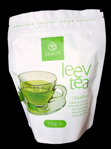 leev tea chá misto detox hibisco 100% natural akmos