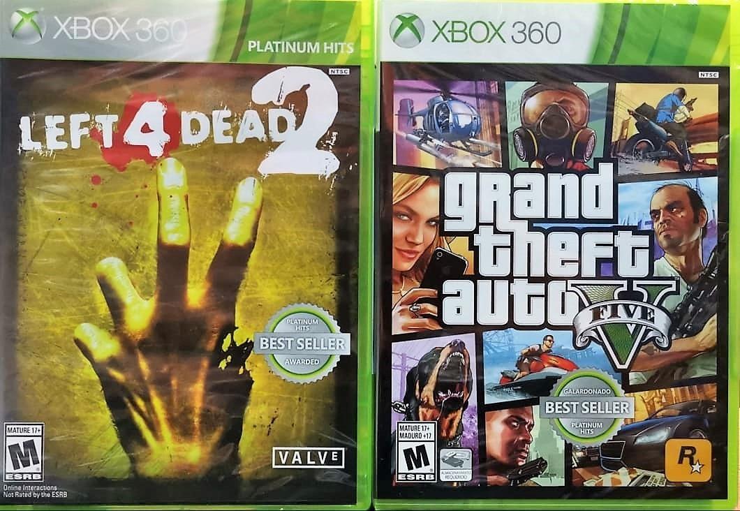 Left 4 Dead 2 + Gta V Xbox 360