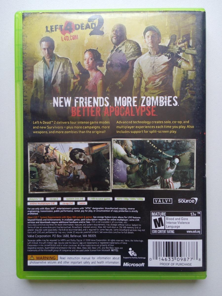 Left 4 Dead 2 Xbox 360 Uno De Los Mejores De Zombies :)