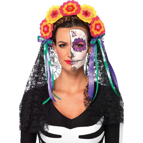 leg avenue día del traje de halloween adultos de diadema