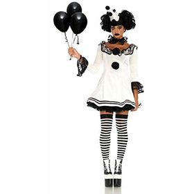 Leg Avenue Womens 3pc Pierrot Payasodisfraz Para Hallowe