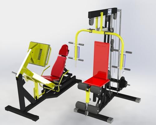 leg press + estação musculação anilhada - apenas projeto