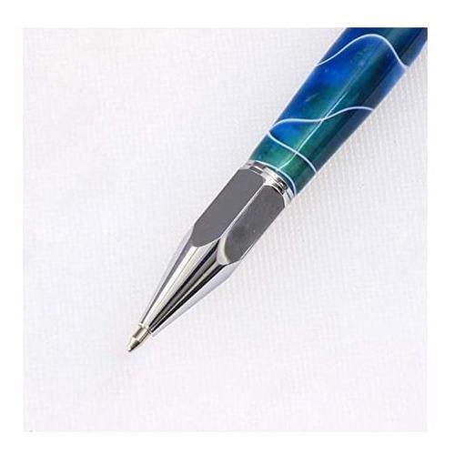 legacy woodturning, hexagonal click pen kit, muchos acabados