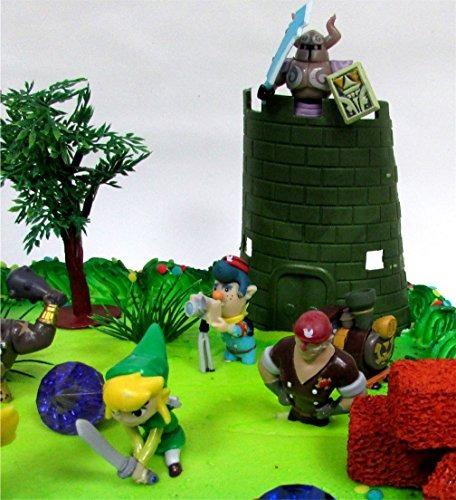 Stupendous Legend Of Zelda Birthday Cake Topper Set Featuring Link Zelda Funny Birthday Cards Online Elaedamsfinfo