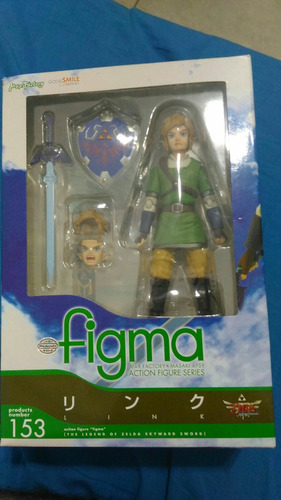 legend of zelda link figma 153 max factory original boneco