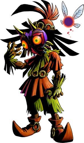 legend of zelda skull kid (con su caja original)