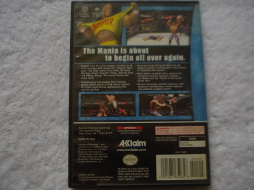 legends of wrestling nintendo gamecube y wii