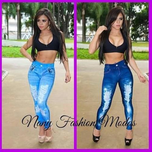 leggin jeans - imitação jeans