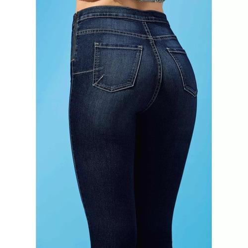 leggin mujer jeans azul algodón entubado pantalón 1272710