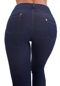 Legging Calza Mujer Levanta Cola Simil Jean Tqc