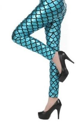 legging estampa de escamas de sereia - pronta entrega