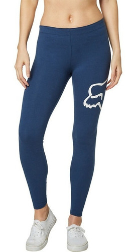 legging fox enduration mujer azul/blanco