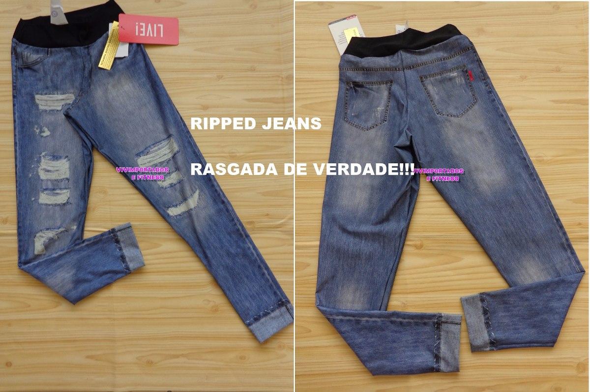 bb9b463d6f Legging In Ripped Jeans Live! Legging Jeans Fake Imita Jeans - R ...