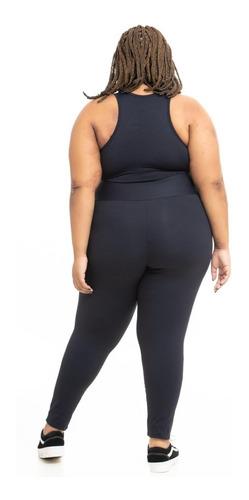 legging plus size wonder size lisa emana® plus preta