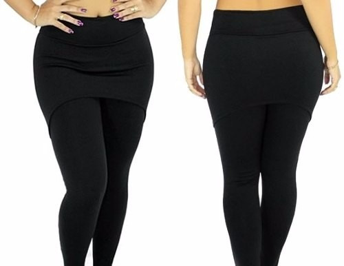 legging saia preta fitness