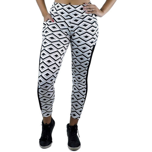 legging suplex c/ tule calça fitness academia aerobica 2017