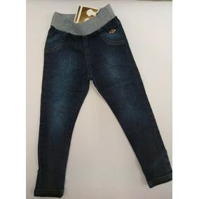 a95113c5e1 Calça Legging De Jeans Com Cós Punho Infantil Cód.019