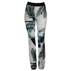 46d83d0d96a51 Calça Estampada Feminina Slim Legging Flare Elastano 21121l