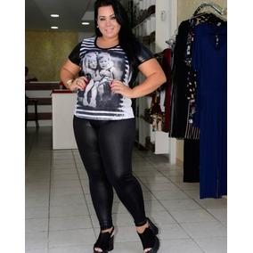 2e4fb2bd6 Calca Legging Preta Brilho Molhado - Leggings Femininas Vermelho no Mercado  Livre Brasil