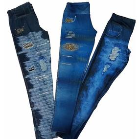 a12757400f Kit 3 Calça Legging Imita Jeans Grande Plus Size G3