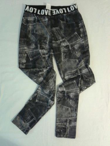 leggings estampados tipo jean excelente calidad