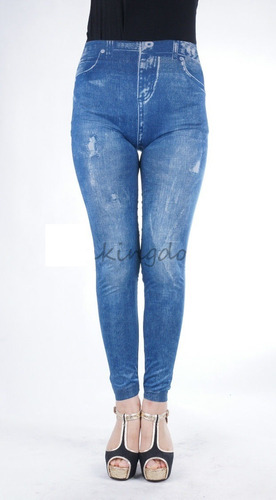 leggings imitación de jeans
