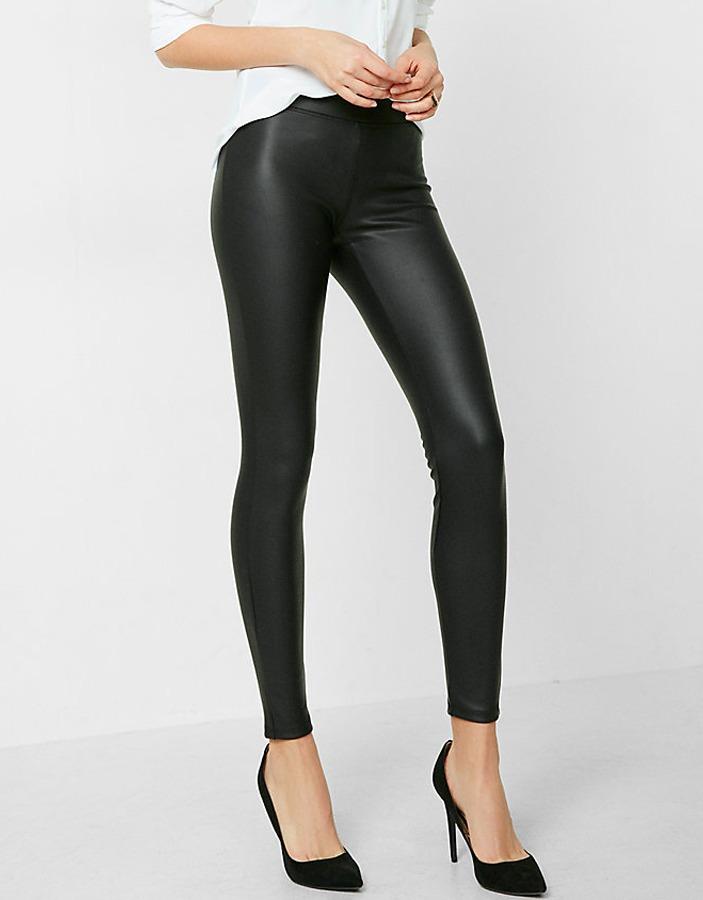 ropa deportiva de alto rendimiento promoción especial gran selección de Leggings Pantalón Metálico Negro Stretch Lycra Mujer