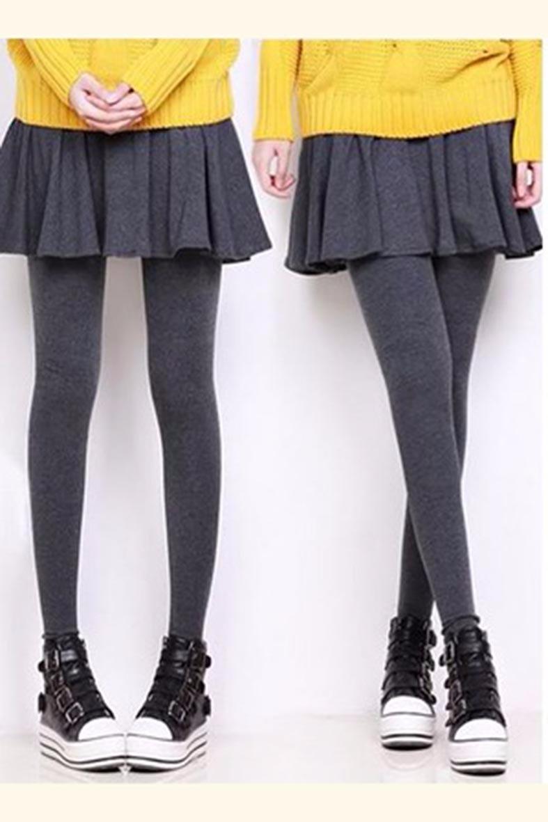 f73d3c1c75 leggings perfectos para invierno con falda circular grises. Cargando zoom.