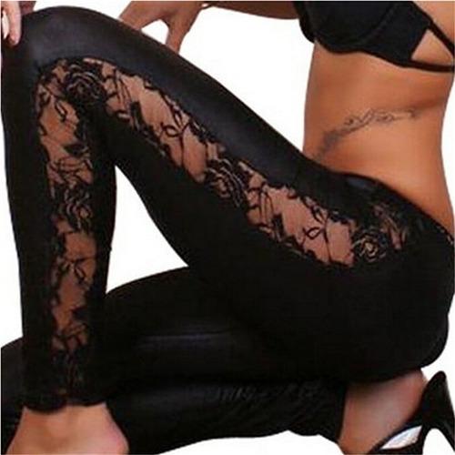leggings skinny cuero sintético