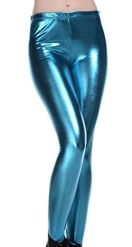 leggings vinipiel metalizado sexy cuero latex brilloso envio
