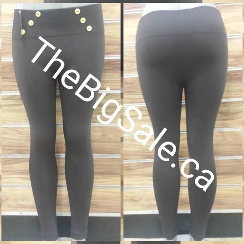 leggins con botones importado pretina alta de color pantalon