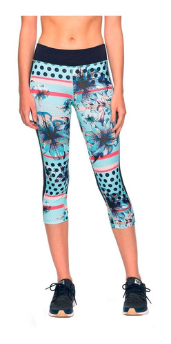 leggins deportivos dama estilo capri multicolor roxy