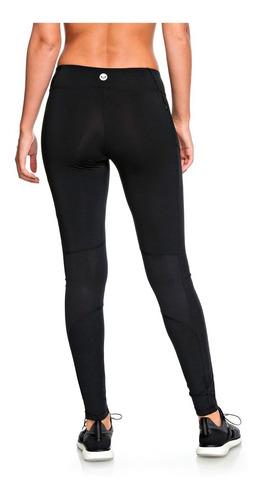 leggins deportivos dama malla transpirarte negro roxy