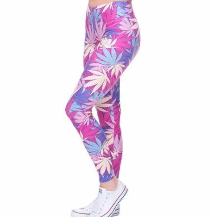leggins importadas hojas marihuana-calzas weed-cannabis 2017