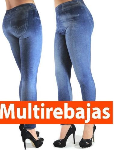 leggins jeans levantacola aplana abdomen reduce talla, m y l
