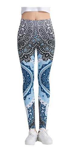 leggins mandala azul yoga