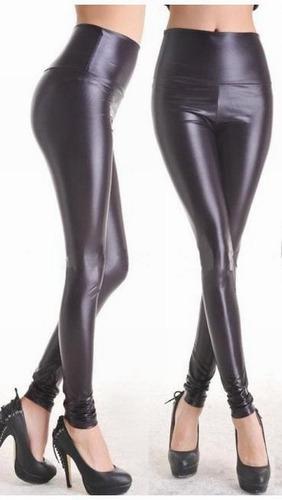 leggins negros metalizado tipo piel