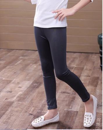 leggins niña tipo piel slim moda skinny pantalon tallas 4-12