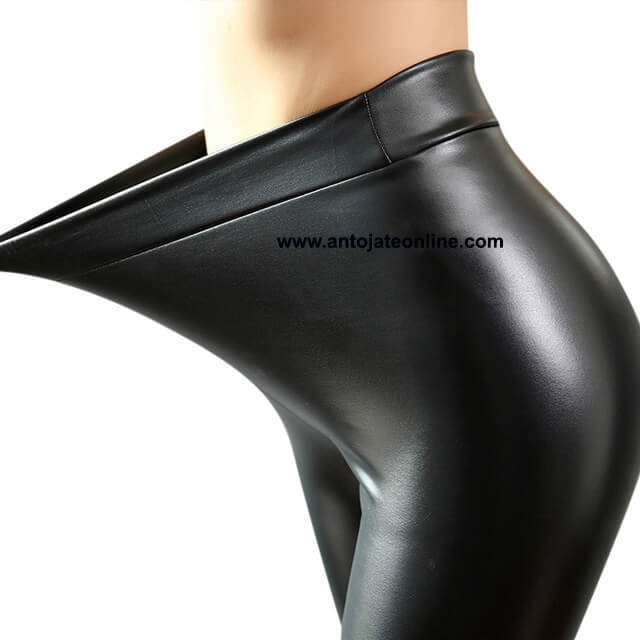 Leggins Pantalon Tipo Cuero Tela Cuerina Licrado Ropa Moda ... 9ab6a437055