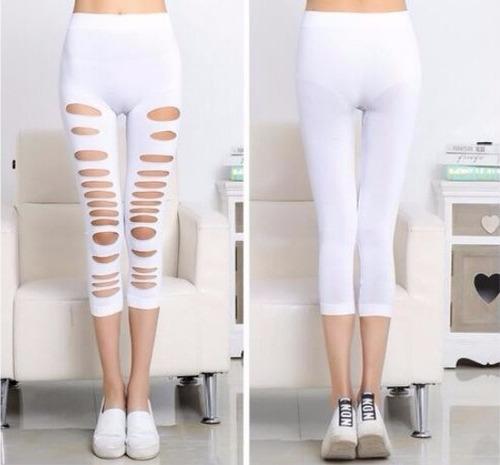 leggins para mujer strech fitness razgado