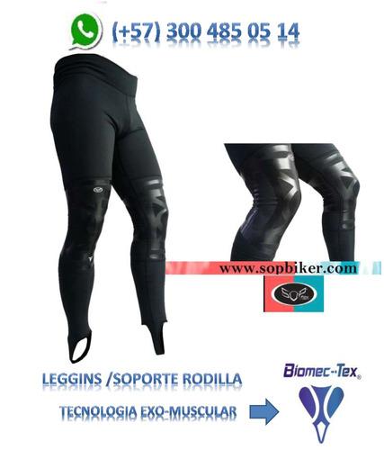 leggins sopbiker® -soporte rodilla-knee brace/  biomectex®