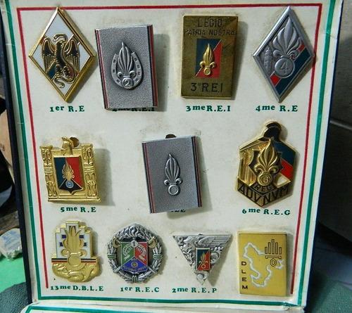 legión extranjera - 11 insignias territoriales