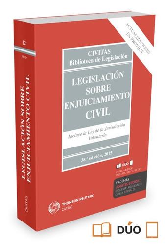 legislación sobre enjuiciaminto civil(libro derecho civil)