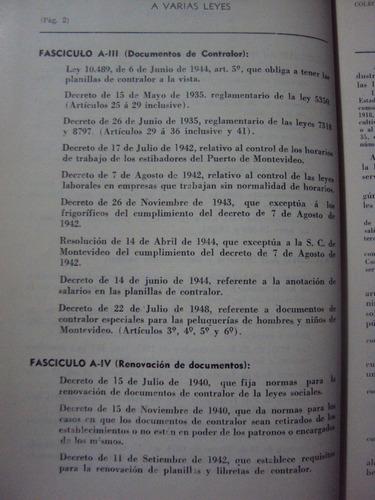 legislacion social del uruguay. francisco de ferrari derecho