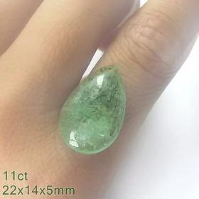 Legítima Esmeralda Lindo Verde Pedra 100% Natural Gota 11cts