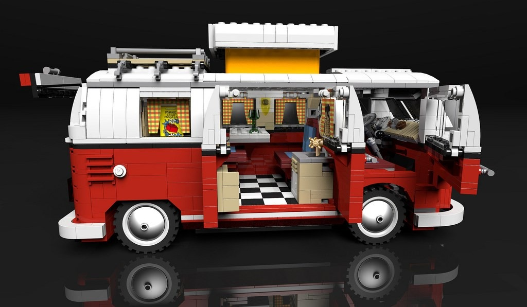 lego 10220 vw combi t1 camper 3 en mercado libre. Black Bedroom Furniture Sets. Home Design Ideas