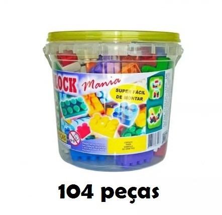 lego 104 peças blocos de montar criança brinquedo presente