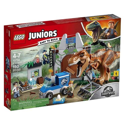 lego 10758 juniors  jurassic world t. rex breakout 150 pcs